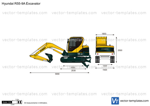 Hyundai R55-9A Excavator