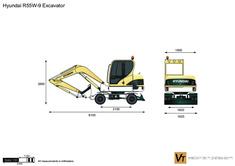 Hyundai R55W-9 Excavator