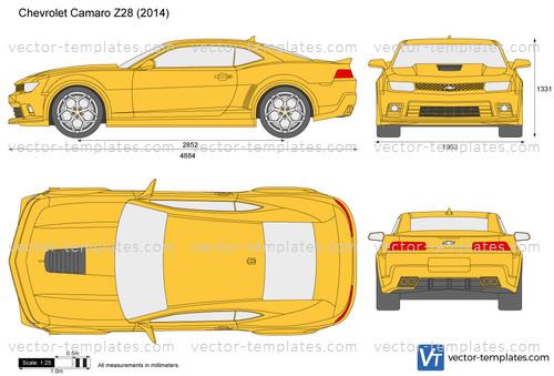 Templates - Cars - Chevrolet - Chevrolet Camaro Z28