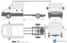 Iveco Daily Double Cab Chassis 35S11 35S13 13SD L3H1