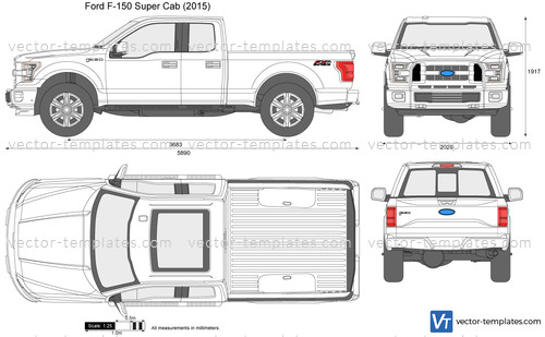 Templates - Cars - Ford - Ford F-150 Super Cab