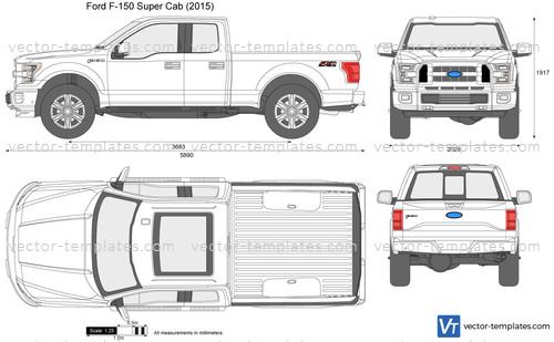 2015 Ford F 150 Regular Cab >> Templates - Cars - Ford - Ford F-150 Super Cab