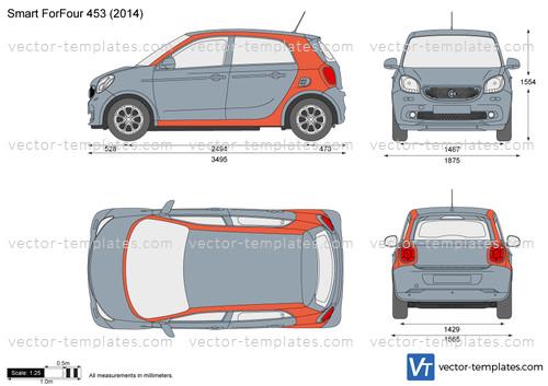 templates cars smart smart forfour 453. Black Bedroom Furniture Sets. Home Design Ideas