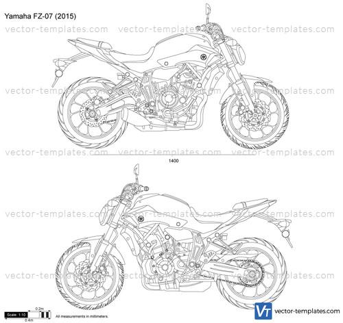 Templates Motorcycles Yamaha Yamaha Fz 07