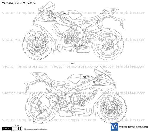 templates - motorcycles - yamaha