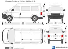 Volkswagen Transporter T6 SWB Low Mid Roof
