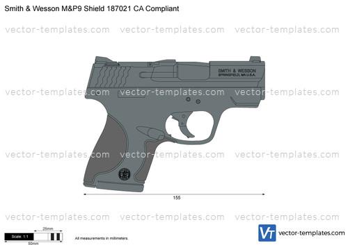 Smith & Wesson M&P9 Shield 187021 CA Compliant