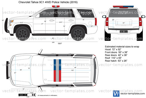 Templates - Cars - Chevrolet - Chevrolet Tahoe 9C1 4WD Police Vehicle