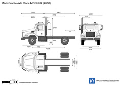 Mack Granite Axle Back 4x2 GU812