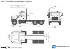 Mack Granite Axle Forward 6x4 GU713