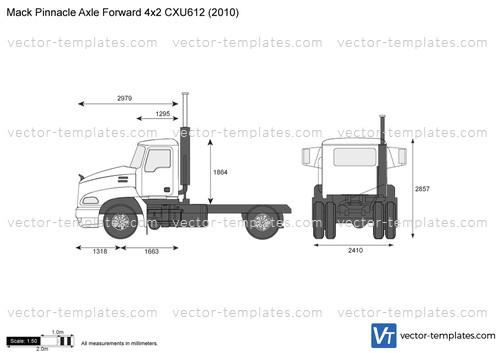 Mack Pinnacle Axle Forward 4x2 CXU612