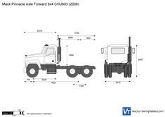 Mack Pinnacle Axle Forward 6x4 CHU603