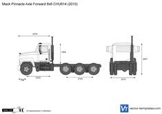 Mack Pinnacle Axle Forward 8x6 CHU614