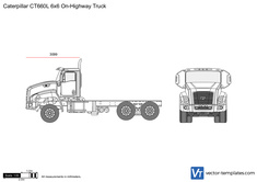 Caterpillar CT660L 6x6 On-Highway Truck
