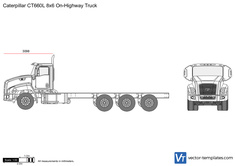 Caterpillar CT660L 8x6 On-Highway Truck