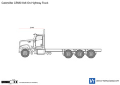 Caterpillar CT680 8x6 On-Highway Truck