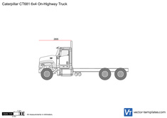Caterpillar CT681 6x4 On-Highway Truck