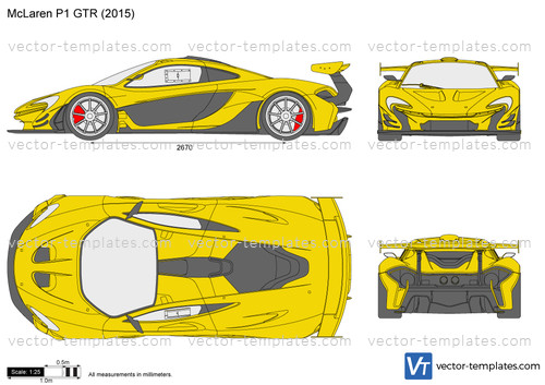 templates - cars - mclaren - mclaren p1 gtr