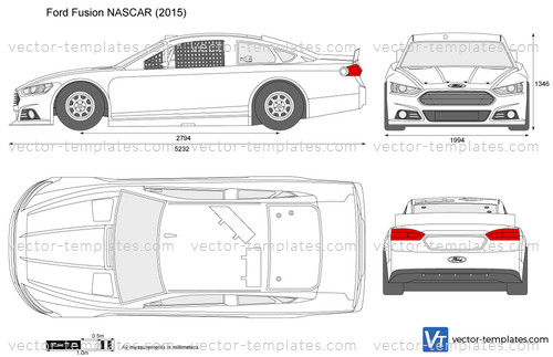 Templates - Cars - Ford - Ford Fusion NASCAR