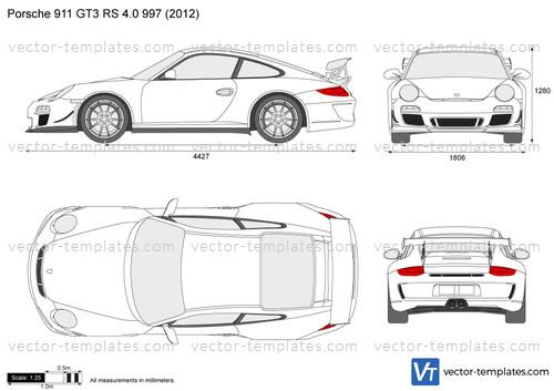Templates Cars Porsche Porsche 911 Gt3 Rs 4 0 997