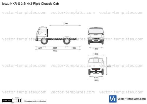 Isuzu NKR-S 3.5t 4x2 Rigid Chassis Cab
