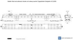 Stadler Rack and adhesion double unit railway Bavarian Zugspitzbahn Bergbahn AG (BZB)