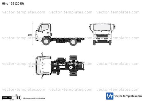 templates - trucks - hino