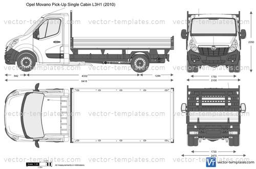 Opel Movano Pick-Up Single Cabin L3H1