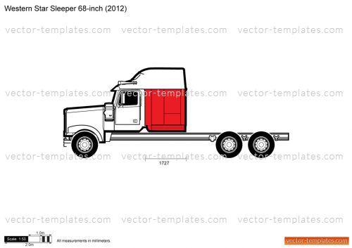 Templates - Trucks - Western Star - Western Star Sleeper 68-inch
