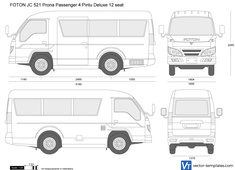 FOTON JC 521 Prona Passenger 4 Pintu Deluxe 12 seat