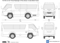 FOTON JC 521 Prona Passenger 5 Pintu Deluxe 12 seat (Mobil Travel)