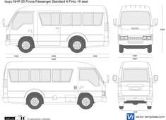 Isuzu NHR 55 Prona Passenger Standard 4 Pintu 16 seat