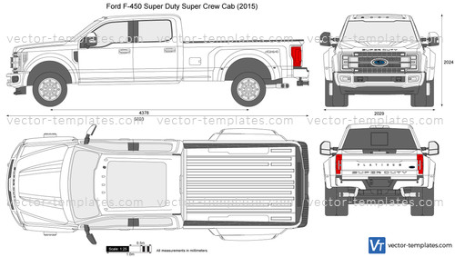 2016 Dodge Journey >> Templates - Cars - Ford - Ford F-450 Super Duty Super Crew Cab