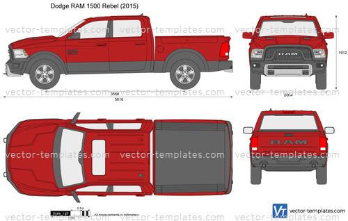 2012 Dodge Ram 1500 Headlights >> Templates - Cars - Dodge - Dodge RAM 1500 Rebel