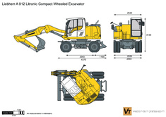 Liebherr A 912 Litronic Compact Wheeled Excavator
