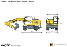 Liebherr A 916 Litronic Compact Wheeled Excavator