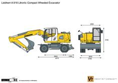 Liebherr A 918 Litronic Compact Wheeled Excavator