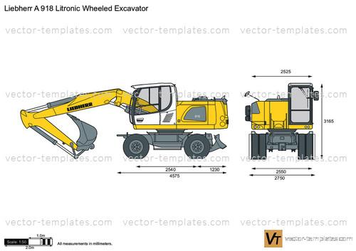Liebherr A 918 Litronic Wheeled Excavator