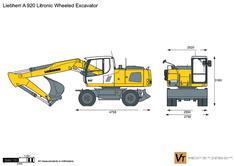 Liebherr A 920 Litronic Wheeled Excavator