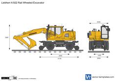 Liebherr A 922 Rail Wheeled Excavator