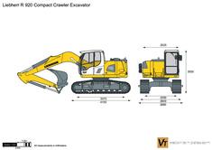Liebherr R 920 Compact Crawler Excavator