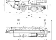 Grove GMK3055 Crane