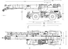 Grove RT600E Rough Terrain Crane