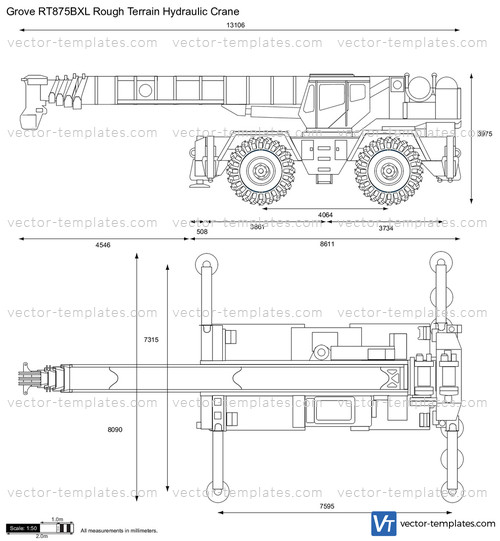 Grove RT875BXL Rough Terrain Hydraulic Crane