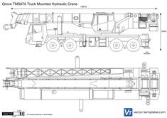 Grove TMS870 Truck Mounted Hydraulic Crane
