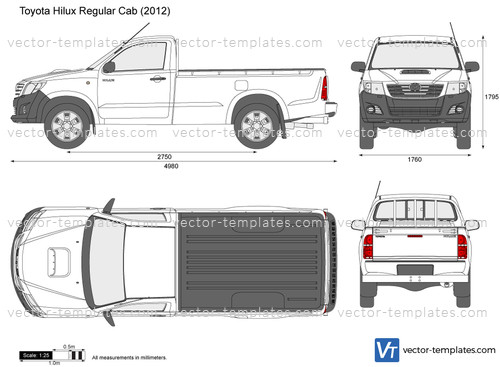 Templates Cars Toyota Toyota Hilux Regular Cab