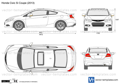 Templates Cars Honda Honda Civic Si Coupe