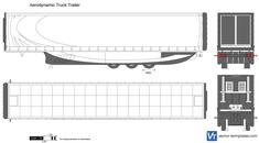 Aerodynamic Truck Trailer