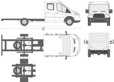 Ford Transit Chassis Double Cab L4 LWB Long Chassis