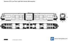 Siemens S70 Low Floor Light Rail Vehicle (Minneapolis)